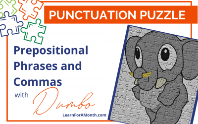 Prepositional Phrases and Commas with Dumbo (Punctuation Puzzle)