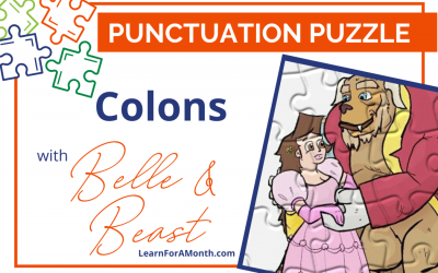 Colons with Belle and Beast (Punctuation Puzzle)