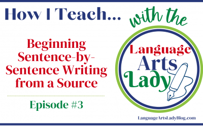 How I Teach…Beginning Sentence and Paragraph Writing With Writing Boxes…(Episode #3)