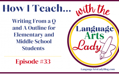 How I Teach…Writing From a Q and A Outline for Elementary and Middle School Students (Episode #33)